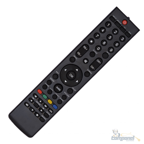 Controle Remoto para Tv H-buster Lcd Led LE7481 / CO1311